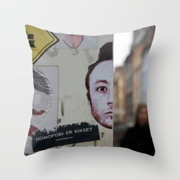 Copenhagen stickers 1 Throw Pillow