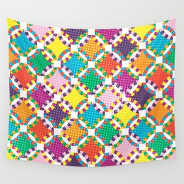 Rainbow Quilt 5 Wall Tapestry