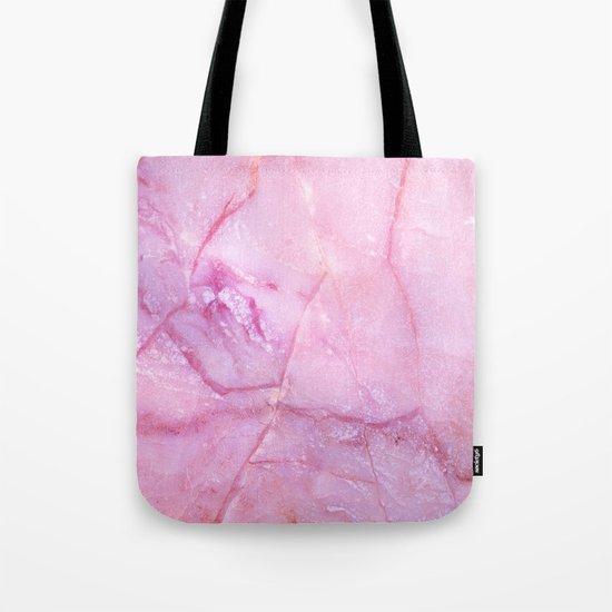 Rose Quartz Marble Tote Bag