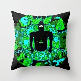 Men In Black #1 Green Throw Pillow