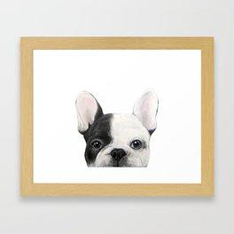 French Bulldog Dog illustration original painting print Framed Art Print