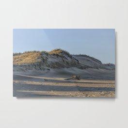 Sand dunes at the beach Metal Print