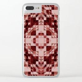 naomi - terracotta symmetrical geometric pattern Clear iPhone Case