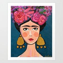 Frida Kahlo Stylized Art Print
