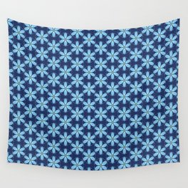 Pastel Blue Flower Wall Tapestry