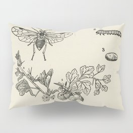 The fruit growers guide  Vintage  of caterpillar-infested clean branoh currant saw-fly gooseberry Pillow Sham