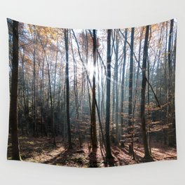 Light Shining in the Forest Wall Tapestry