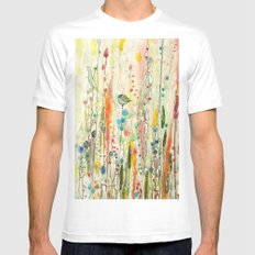 liberté White MEDIUM Mens Fitted Tee