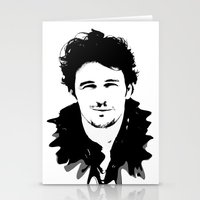 james franco Stationery Cards featuring james franco by looseleaf