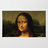 mona lisa Area & Throw Rugs featuring MONA LISA by Ancient