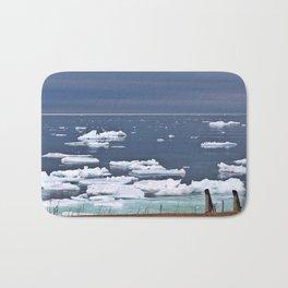 Icebergs on a Calm Sea Bath Mat