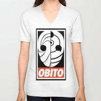 kakashi V-neck T-shirts featuring Great War by Yoash