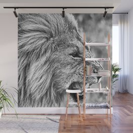 Fierce Lion Wall Mural