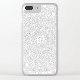 May your inner self be secure and happy (white on white) Clear iPhone Case
