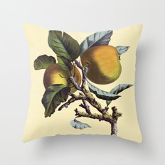 Vintage Apples Throw Pillow