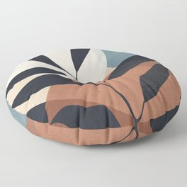Abstract Art Tropical Leaf Floor Pillow