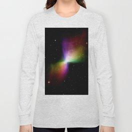 rainboW Space Boomerang Nebula Long Sleeve T-shirt