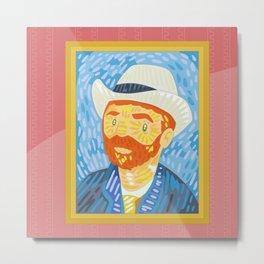 Selfie Van Gogh Metal Print