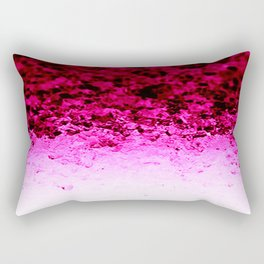 Magenta Fuchsia Pink Ombre Crystals Rectangular Pillow