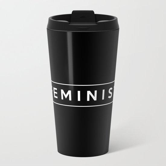 feminist. Metal Travel Mug