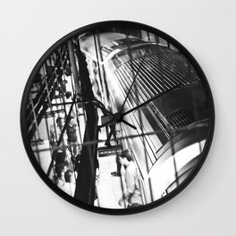 Black and white Subway NYC  Wall Clock