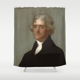 Thomas Jefferson Painting Shower Curtain