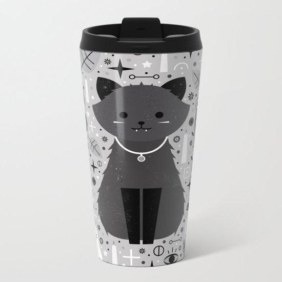 Kitten Fang  Metal Travel Mug