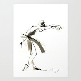 Dance Drawing Art Print