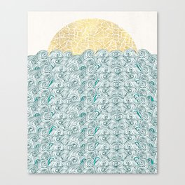 Sunny Tribal Seas Canvas Print