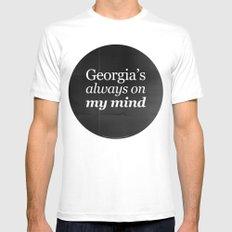 Georgia's always on my mind Mens Fitted Tee White MEDIUM