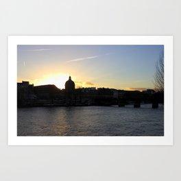 Left Bank of the Seine - Paris Art Print