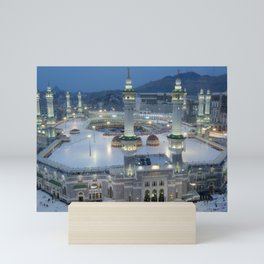 The Hajj is an annual Islamic pilgrimage to Mecca, Saudi Arabia - the holiest city for Muslims Mini Art Print