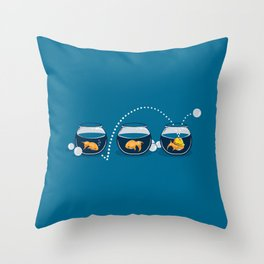 Prepared Fish Throw Pillow