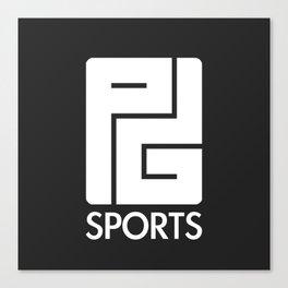 PG Sports (Black) Canvas Print