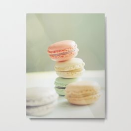 Pretty Macarons Metal Print