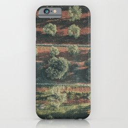 Aerial photo, italian landscape, drone photography, olive trees, nature patterns, Apulia iPhone Case