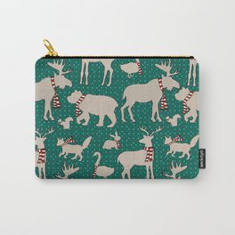 Woodland Animals in Scarves Carry-All Pouch