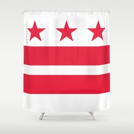 Flag of the District of Columbia - Washington D.C authentic version Shower Curtain