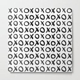 xox pattern Metal Print