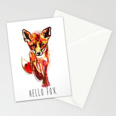 Cute Little Red Fox water colour ink Stationery Cards