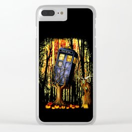 Halloween Tardis doctor who captured by witch Clear iPhone Case