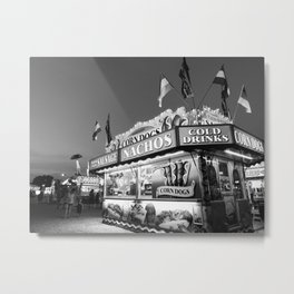 Fair Food B&W Metal Print