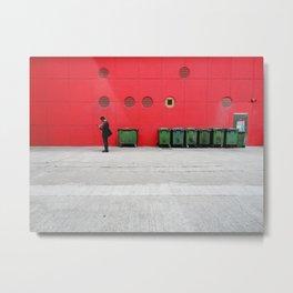 Red Hong Kong Metal Print