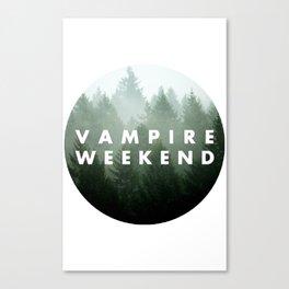 Vampire Weekend trees logo Canvas Print