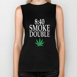 840 Smoke Double Funny Weed Smoking 420 T-shirt Biker Tank