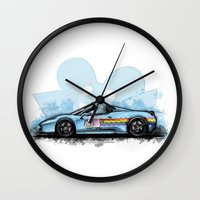 deadmau5 Wall Clocks featuring Deadmau5's Purrari 458 Spider by an.artwrok