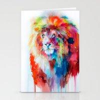 lion Stationery Cards featuring Lion by Slaveika Aladjova