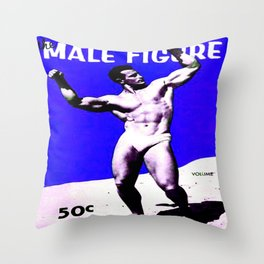 Male Figure 50 cents  Throw Pillow
