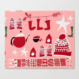 winter gear pink Canvas Print