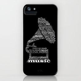 Invert typographic gramophone iPhone Case